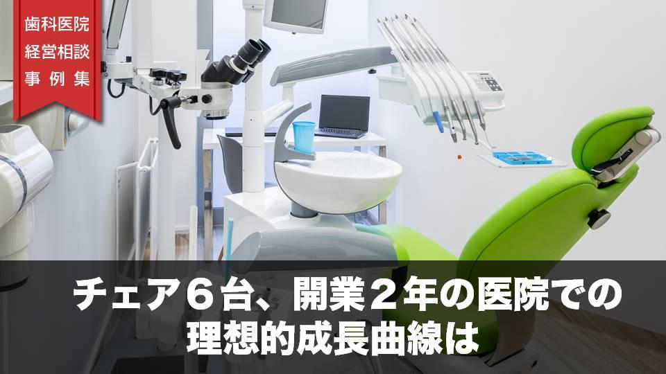 チェア6台、開業2年の医院での理想的な成長曲線は