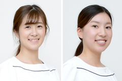 とよつ歯科・矯正歯科 内田宝乃さん 岩橋加帆さん