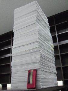 2012年経営塾ベーシックコース第4回に提出された宿題の山です。