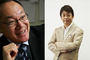 アドバンス第3回は『スラムダンク勝利学』で有名な辻秀一先生(左)と『営業マンは断ることを覚えなさい』で有名な石原明さん(右)をお招きします。