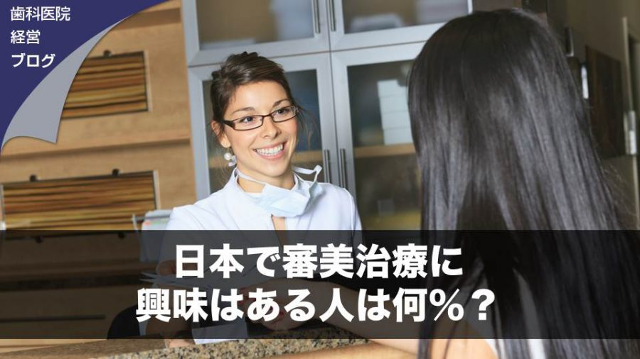 日本で審美治療に興味はある人は何%?